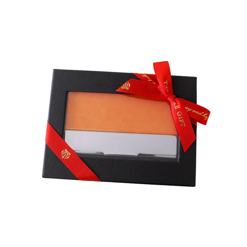 ラッピング(有料):窓付き化粧箱+リボン