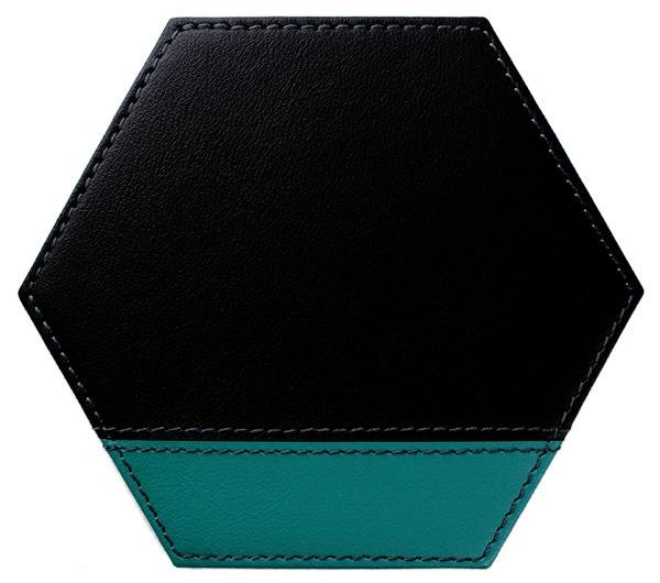 六角*黒×ターコイズ