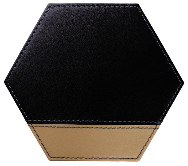 六角*黒×グレージュ