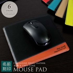CLブラックツートンレザーマウスパッド(シミュレーター対応 _ns)